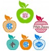 Custom Vinyl Decal - Apple/Teacher