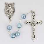 Blue Swirl Rosary-Boxed