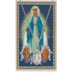 Miraculous Medal Prayer card and Medal set