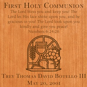 First Communion Square Plaque