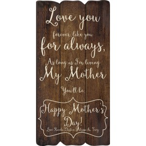Fence Post Plaque - Mother's Day