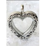 Floating Charm Locket - Antiqued Heart
