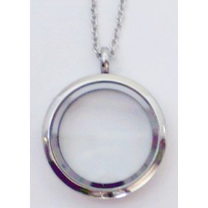 Floating Charm Locket - Round - Large
