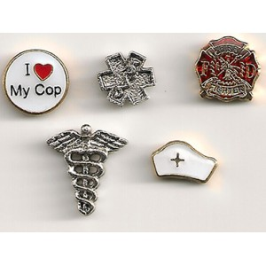 Medical and First Responder Floating Charms