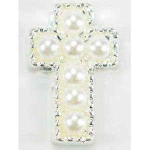 Pearl Cross Floating Charm